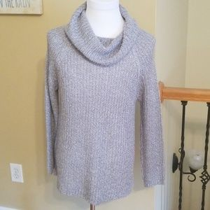 Beautiful Bulky Knit cowl neck sweater  Sixe XL